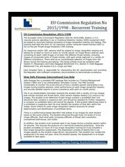 EU Commission Regulation No 2015/1998 Recurrent Training